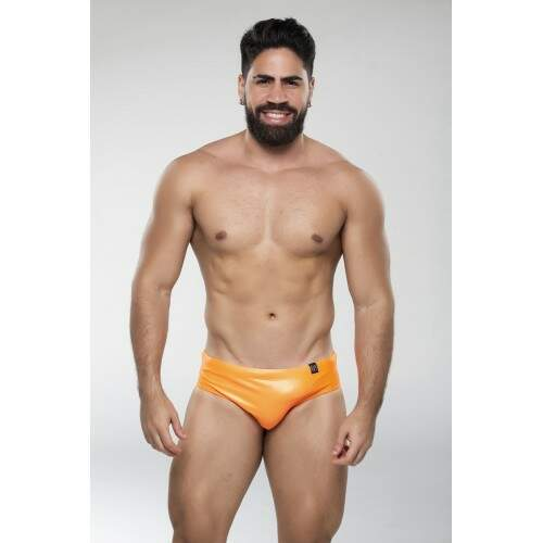 Sunga Brief Laranja Neon